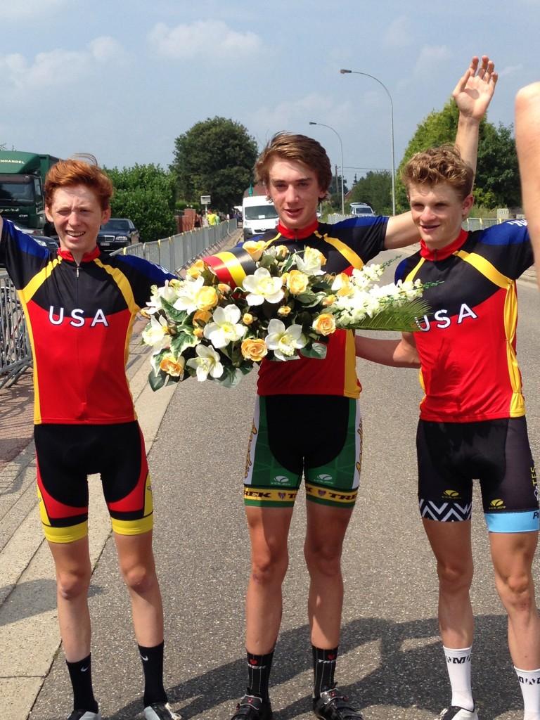 Matteo, Brandon, Tyler sweep the podium in Geel