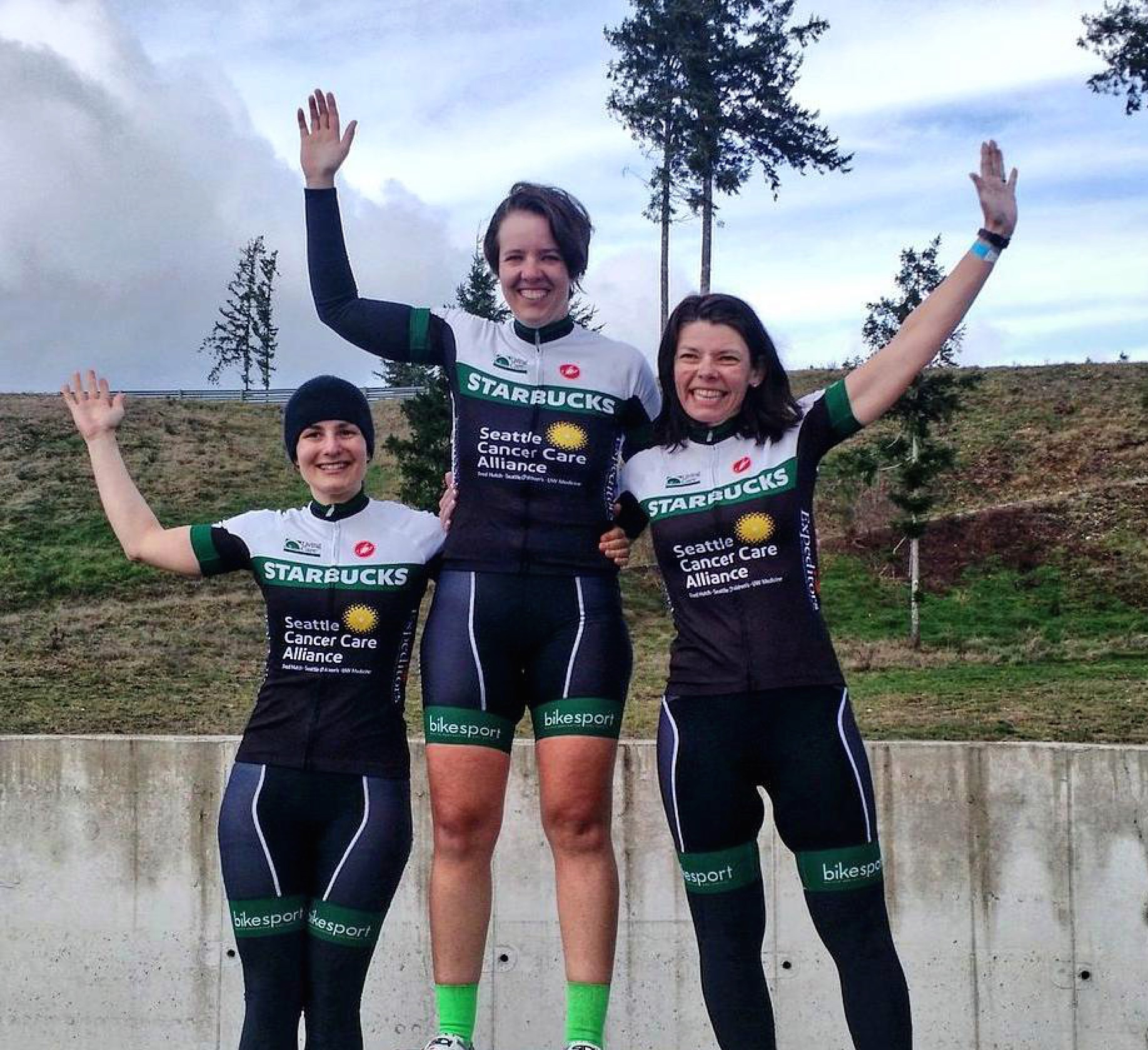 Not just one but two Tête de la Course coached athletes on the podium. Emily Alexander with the win and Karen Doherty in second as the Starbucks Cat 4 women sweep the podium at The Ridge Circuit Race over the weekend. Awesome job ladies!