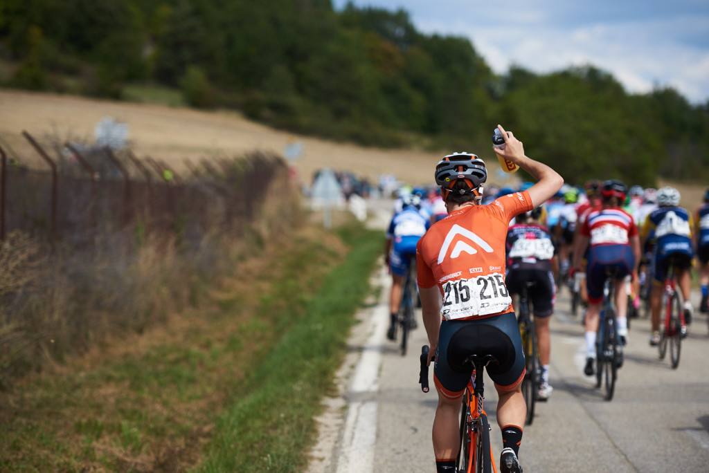 Heidi Franz (USA) comes back for bottles at Tour Cycliste Féminin International de l'Ardèche 2018 - Stage 4, a 116.3km road race from Chateauneuf de Gadagne to Mont Serein, France on September 15, 2018. Photo by Sean Robinson/velofocus.com